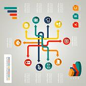 Infographic diagram icons network illustration