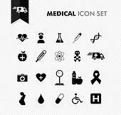 Fresh medical icon set.
