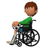 Child sitting in the wheelchair