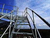 Industrial zone, Steel equipment against blue sky
