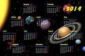 Universe 2014 calendar - 3D render