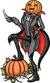 Halloween Pumpkin Head Jack with Bl