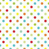 Vector colorful polka dot backgroud