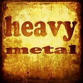 heavy metal word music background