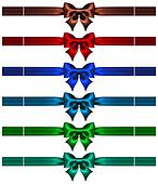 Bows with ribbons in dark colors