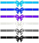 Bows with ribbons of cool colors