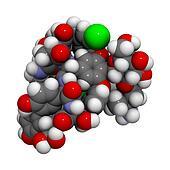 Vancomycin antibiotic drug (glycopeptide class), chemical struct
