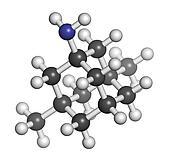 Memantine Alzheimer's disease drug, chemical structure.