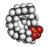 Perifosine investigational cancer drug, chemical structure.