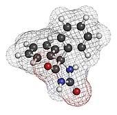 Phenytoin epilepsy drug, chemical structure.