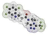Sitagliptin diabetes drug, chemical structure.