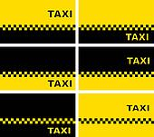 set of taxi business cards