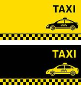 black and yellow taxi business card
