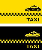 two business card with taxi car