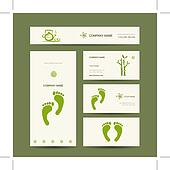 Business cards design, foot massage