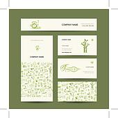 Business cards design, massage and spa concept