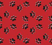 Dogs paws seamless pattern