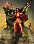 Dragon and Woman