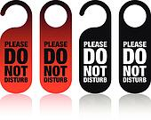 a set of please do not disturb sign