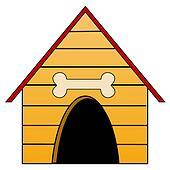 kennel for a dog, illustration