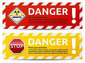 Danger banner 2 color version collection