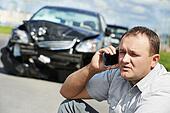 upset driver man after car crash