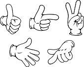 Set of positive hands gestures
