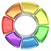 Colored Wheel Chart