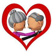 elderly people  in love3d