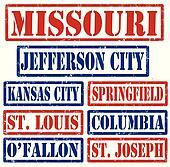 Missouri Cities stamps
