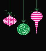Whimsical Hanging Christmas Ornaments