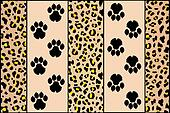 leopard footprints