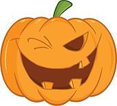 Scary Halloween Pumpkin Winking