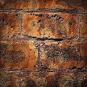 Bricked textured wall background