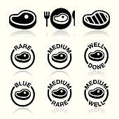 Steak - medium, rare, done icon