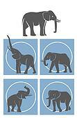 elephant Symbol Set