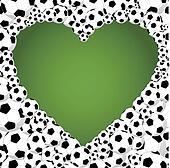 Brazil 2014 soccer balls, heart shape illustration