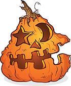 Jack-O-Lantern Cartoon Character