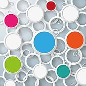 Infographic White And Colored Circles On Rings