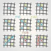 Playing tic tac toe