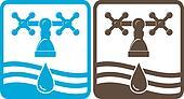 black and blue faucet, drop%u0431 wave