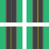 Road Top View Lines