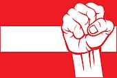 Austria fist (flag of Austria)