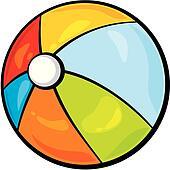 Beach Ball Clip Art - Royalty Free - GoGraph