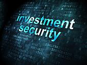 Security concept: Investment Security on digital background