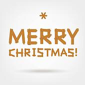 Merry Christmas! Text made from wooden boards for your design