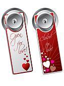 Valentine day door hangers