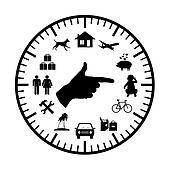 family budget modern clock