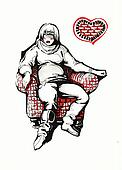 pregnat girl in armchair