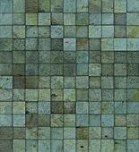 grunge tile mosaic wall floor blue green